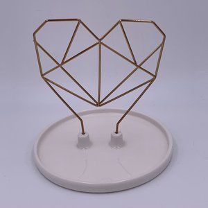 IMM Living Coxet Wire Heart Ceramic Jewely Holder